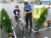 Officers Talk With Child About Bike Safety