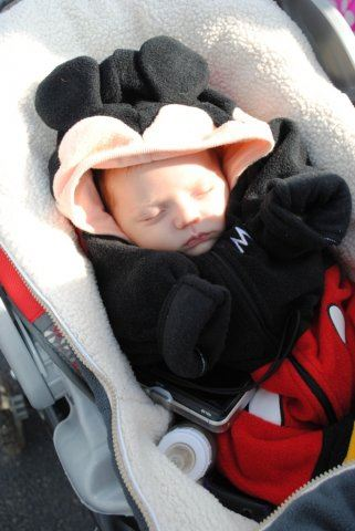 Young Sleeping Mickey Mouse
