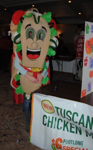 Subway Sandwich Mascot