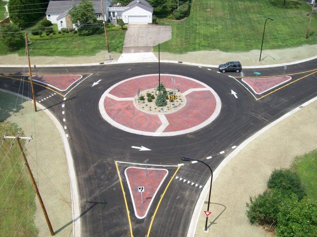 Ridgewood and Jacoby Road Roundabout