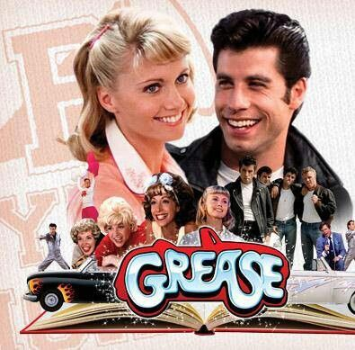 The movie GREASE poster