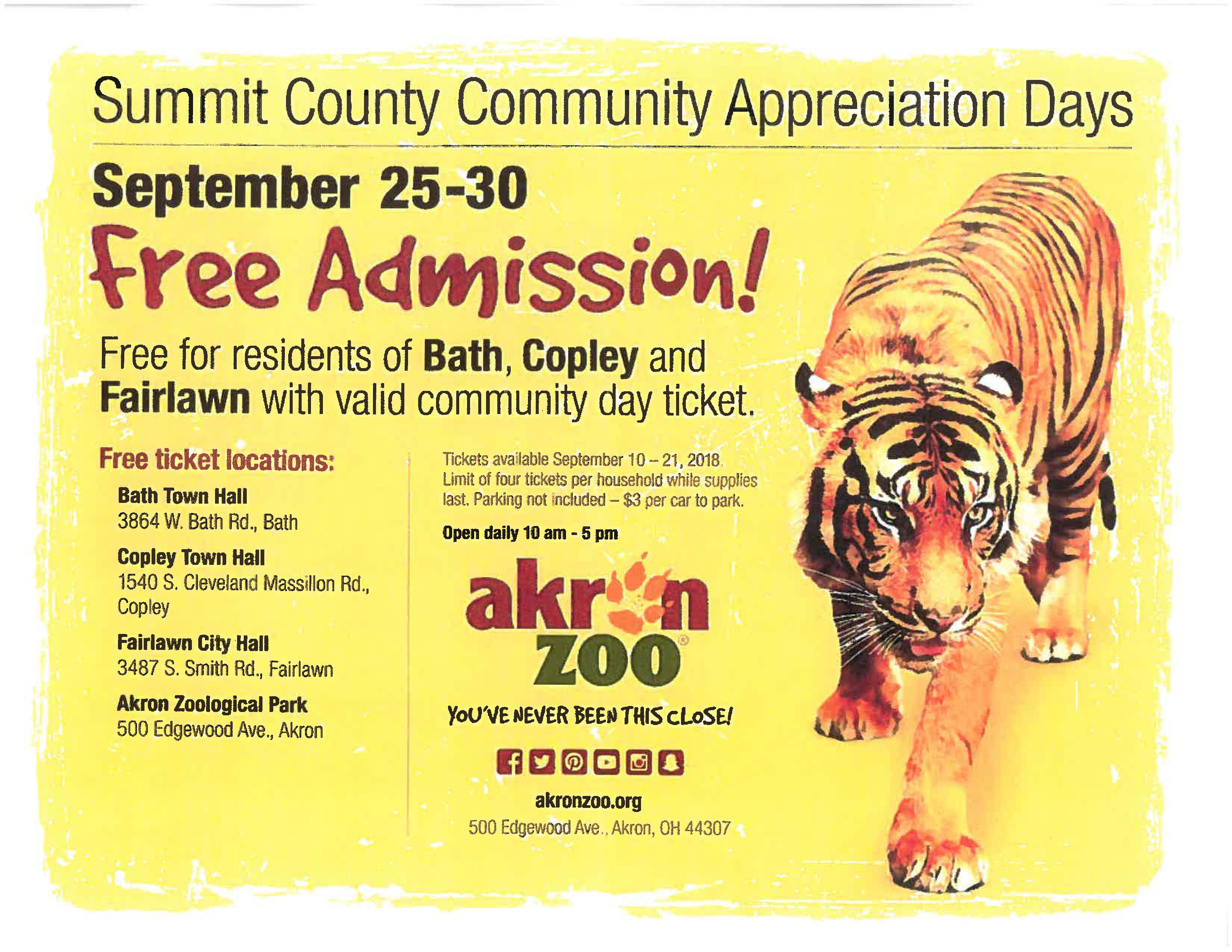 Free Zoo Tickets Flyer