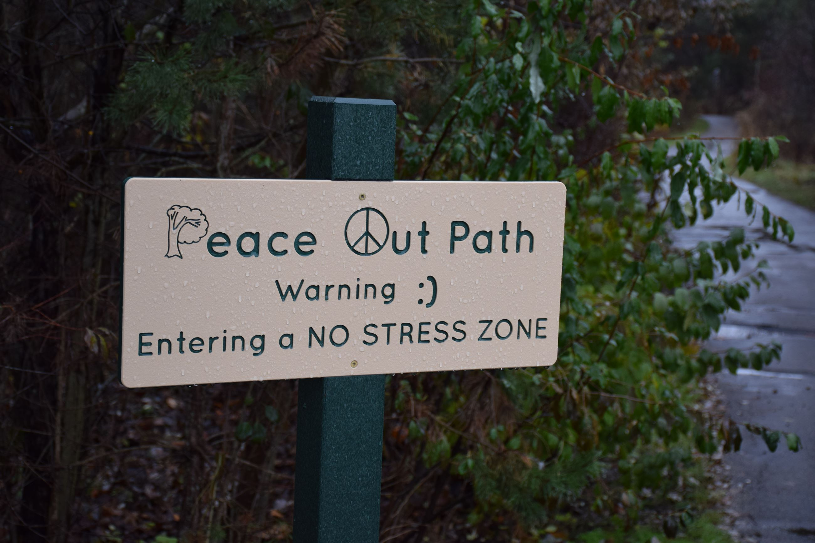 Peace Out Path Sign