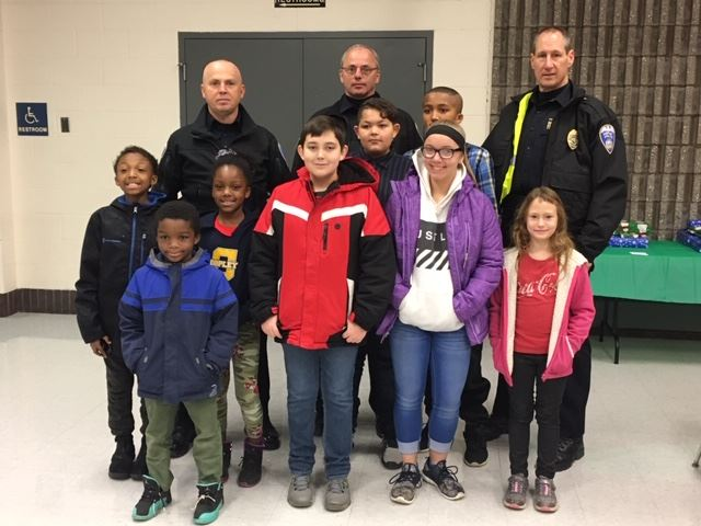Copley Officers with Children