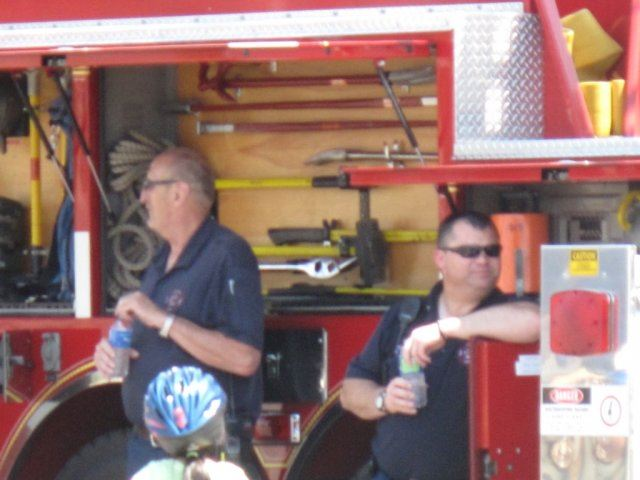 Fire Officials Drink Water