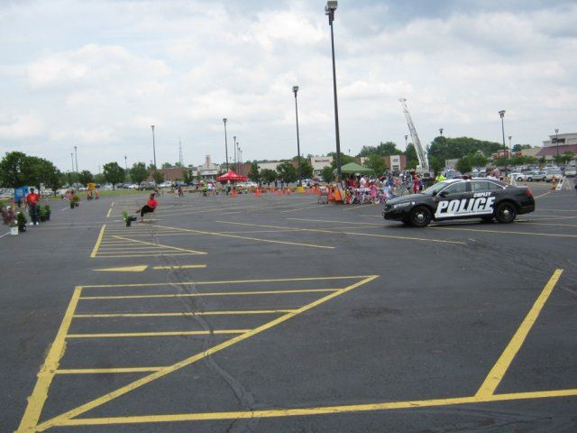 View of Parking Lot at Bike Rodeo