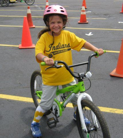 Young Rider Smiles With Helmet On