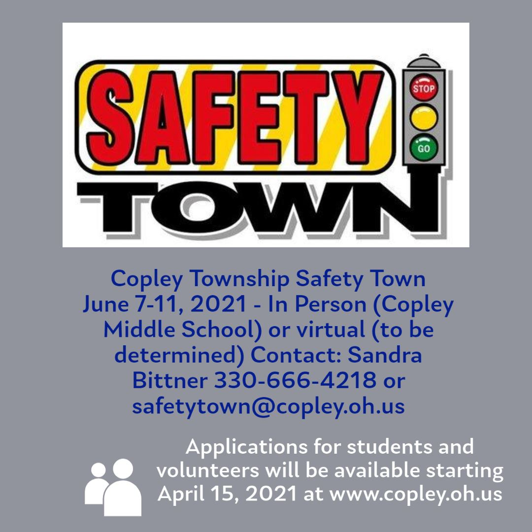 Safety Town Announcement