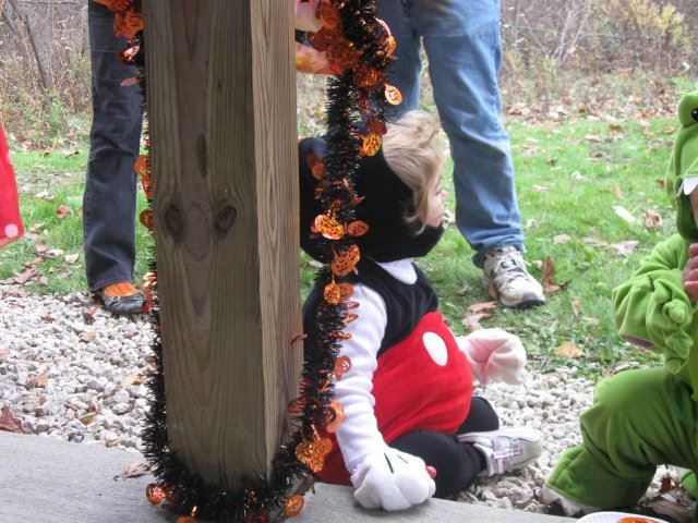 Young Mickey Mouse Looks Towards Forest