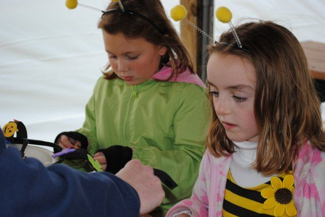Young Girls in Bee Costumes