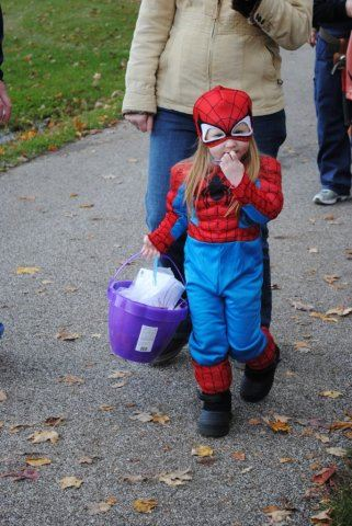Little Child in Spiderman Costume