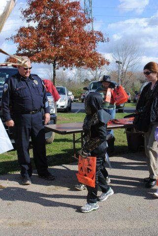 Officer Greets Kids