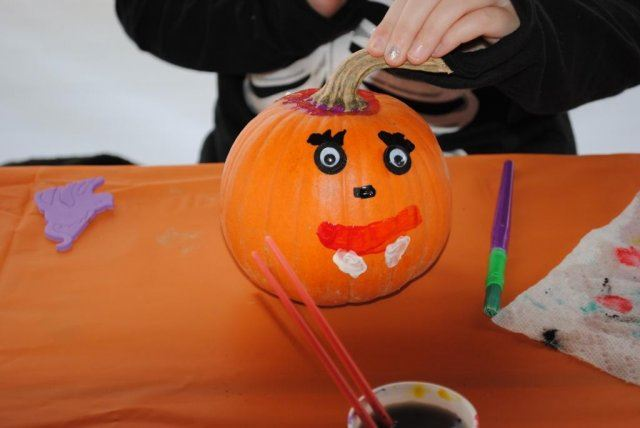 Pumpkin With Painted Face