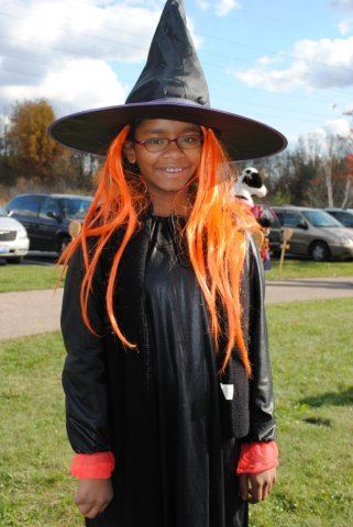 Witch With Orange Wig