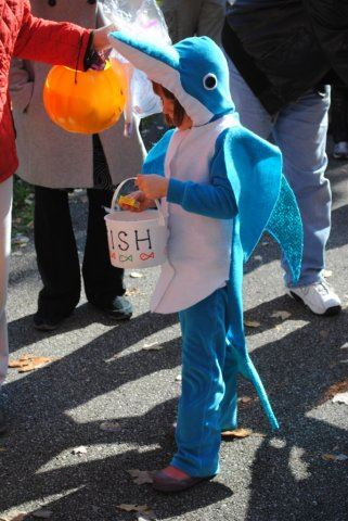 Woman in Shark Costume