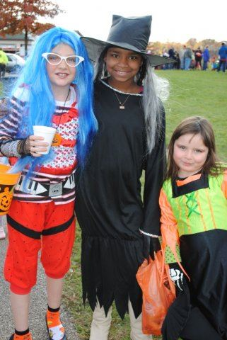 Young Costume Wearing Kids Smile Together