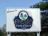 Welcome to Copley Township Sign