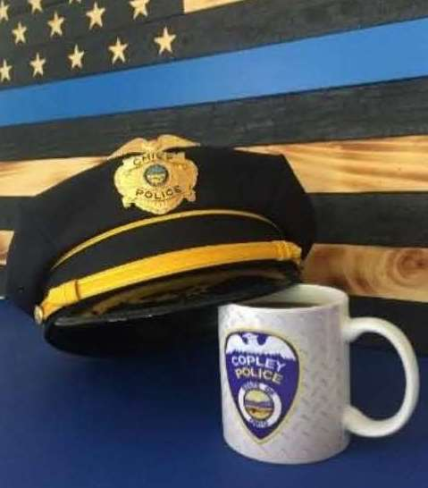 COFFEE WITH A COP hat and coffee cup
